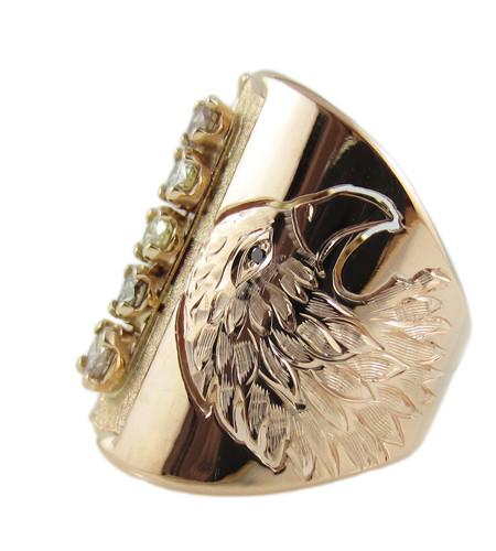 Champagne Diamonds Eagle Ring