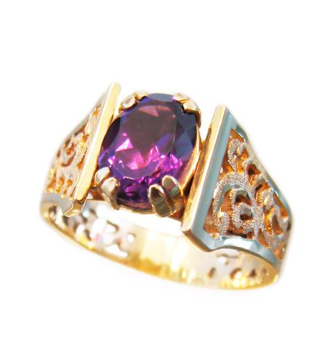 Amethyst Baroque Ring