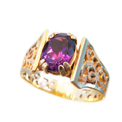 Amethyst Baroque Ring