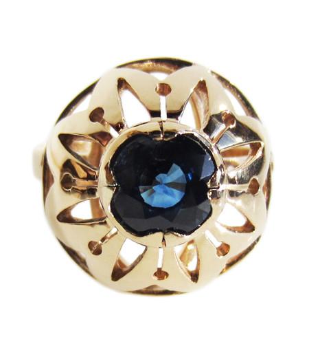 Sapphire European Dome Ring