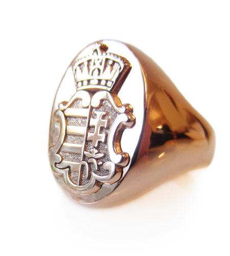 Hungarian Coat of Arms Mens Ring