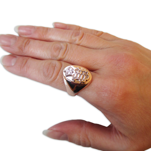 Hungarian Coat of Arms Mens Ring