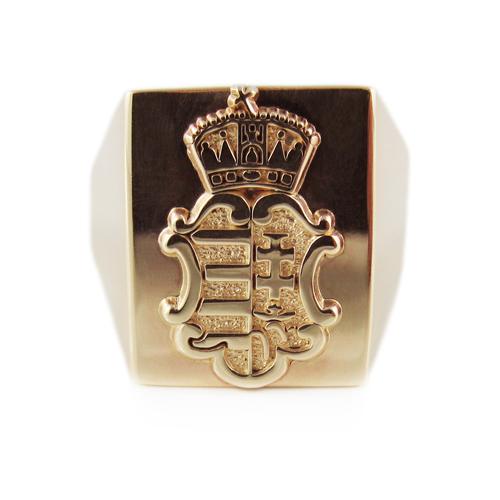 Mens Hungarian Motif Coat Of Arms Ring