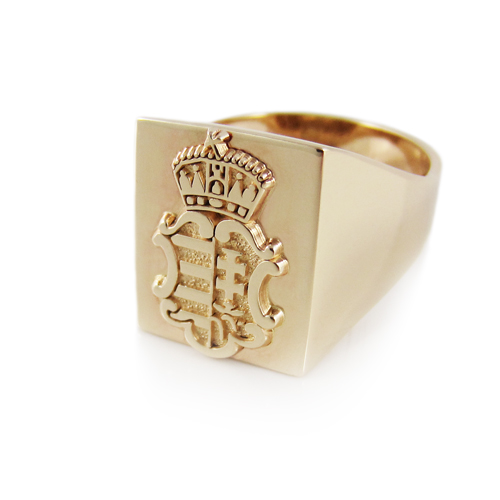 Mens Hungarian Motif Coat Of Arms Ring